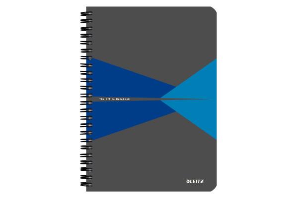 LEITZ Collegeblock Office Card A5 44580035 blau kariert