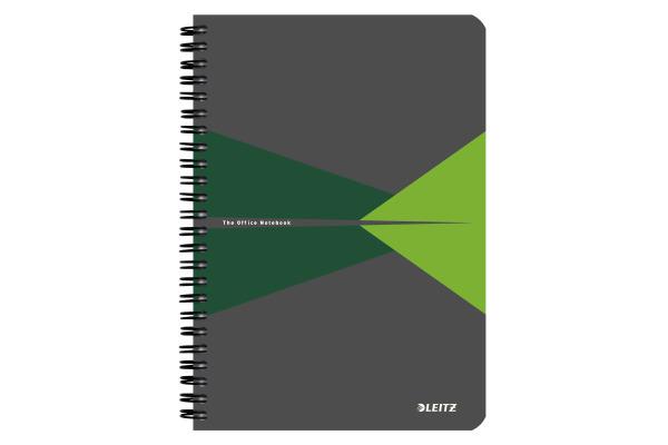 LEITZ Collegeblock Office Card A5 44580055 grün kariert