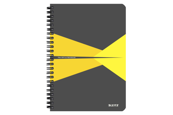 LEITZ Collegeblock Office Card A5 44590015 gelb liniert