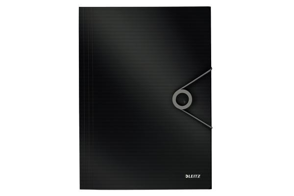 LEITZ Eckspannermappe Solid PP A4 45631095 schwarz