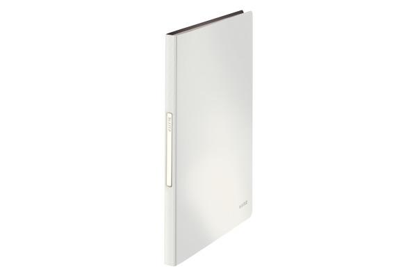 LEITZ Sichtbuch Solid PP A4 45651001 weiss 40 Hüllen