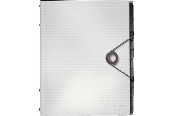 LEITZ Ordnungsmappe Solid PP A4 45701001 weiss 12 Fächer