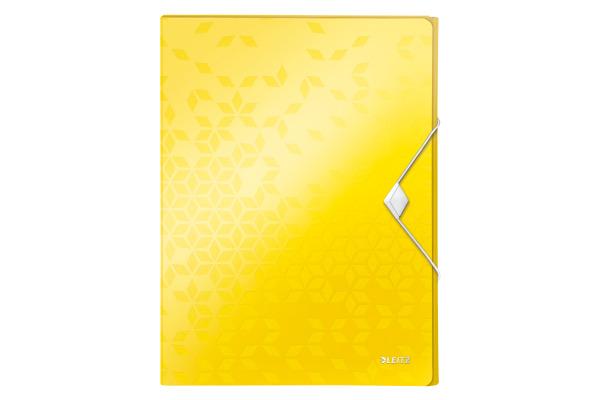 LEITZ Ablagebox WOW PP 46290016 gelb 250x330x37mm