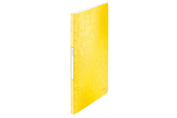 LEITZ Sichtbuch WOW PP A4 46310016 gelb 20 Hüllen