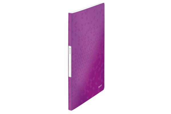 LEITZ Sichtbuch WOW PP A4 46310062 violett 20 Hüllen
