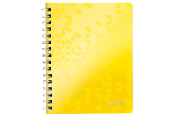 LEITZ Spiralbuch WOW PP A5 46410016 gelb 80 Blatt
