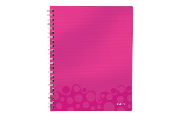 LEITZ College block Get Organised A4 46430023 pink PP kariert, 80 Blatt