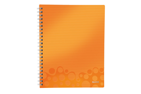 LEITZ College block Get Organised A4 46430044 orange PP kariert, 80 Blatt