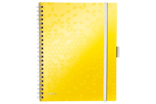 LEITZ Spiralbuch WOW A4 46440016 gelb