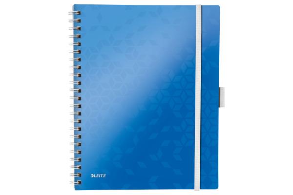 LEITZ Spiralbuch WOW A4 46440036 blau metallic