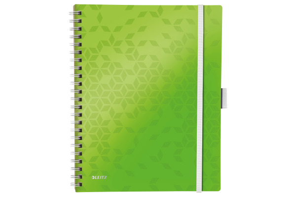 LEITZ Spiralbuch WOW PP A4 4645-00-54 grün 80 Blatt
