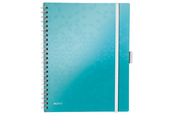 LEITZ Spiralblock WOW A4 46450051 eisblau metallic 80 Blatt