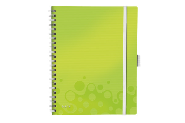 LEITZ Spiralbuch WOW PP A4 46450064 grün metallic 80 Blatt