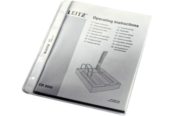 LEITZ Zeigetasche PP extra A5 47050003 genarbt, 0,13mm 100 Stück