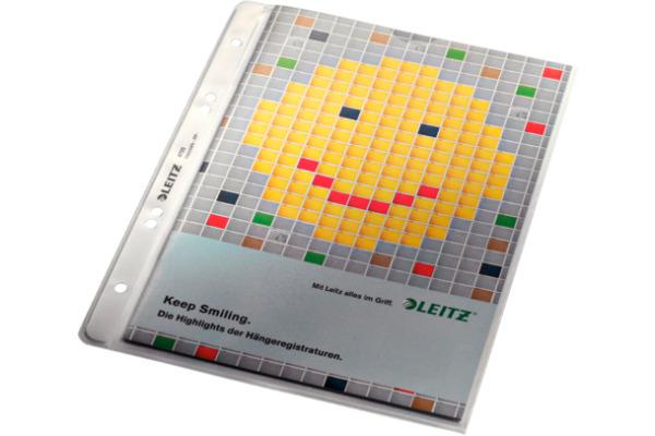LEITZ Zeigetaschen PP A5 47250003 genarbt 100 Stück