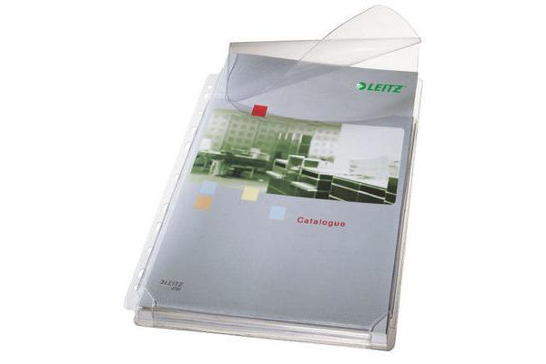 LEITZ Zeigetasche PP Maxi A4 47573003 genarbt, 0,17mm 5 Stück