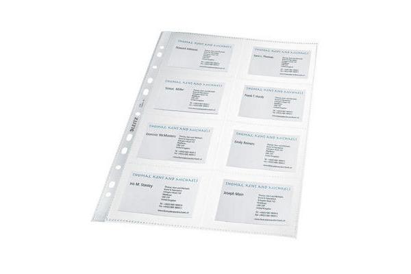 LEITZ Visitenkarten-Hülle 47583003 8 Fächer,10x7cm 10 Stck.