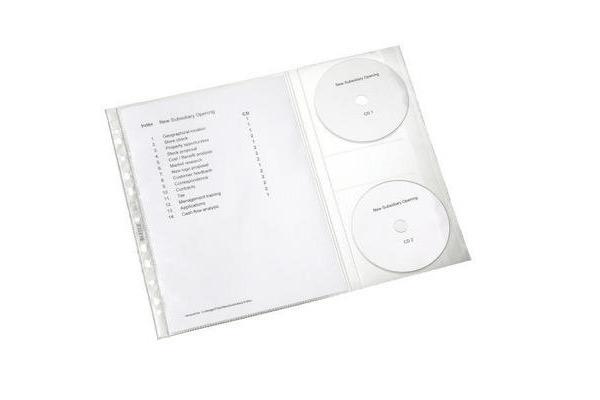 LEITZ Prospekthülle CD A4 47613003 genarbt,...
