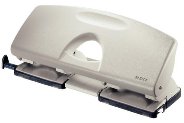 LEITZ Doppellocher 4 2.5mm 50120085 grau, 25 Blatt A6-A4