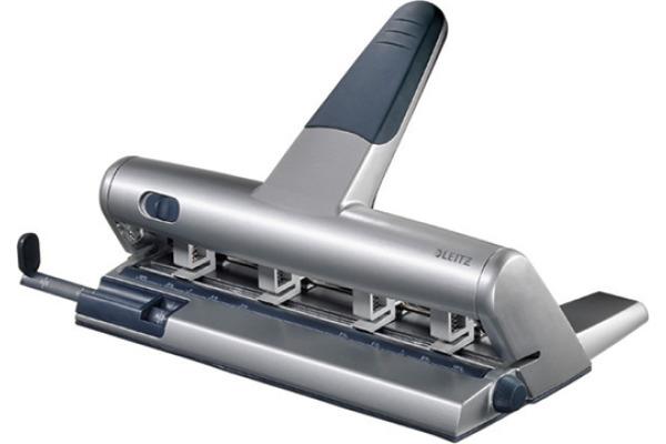 LEITZ Mehrfachlocher AKTO 4-6 6mm 51140084 silber, 3mm 30Blatt A6-A2