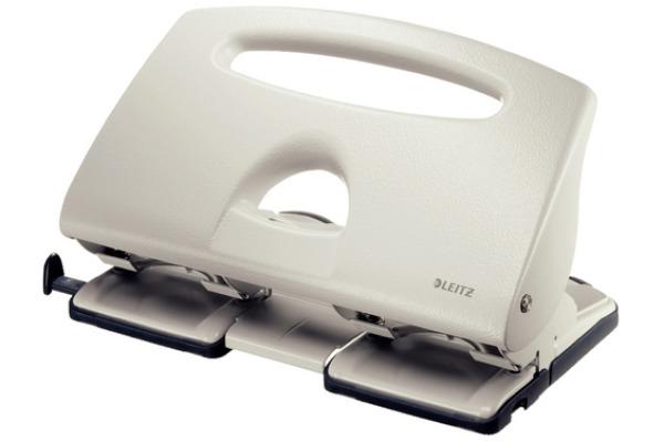 LEITZ Doppellocher 4 4.0mm 51320085 grau, 40 Blatt A6-A4