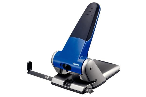 LEITZ Registraturlocher 6.3mm 51800035 blau 65 Blatt