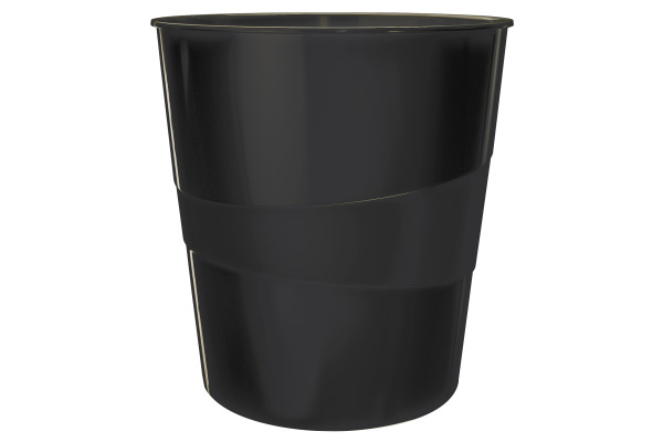 LEITZ Papierkorb WOW 15 Liter 5278-10-95 schwarz