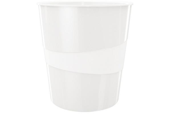 LEITZ Papierkorb WOW 15 Liter 52781001 perl weiss