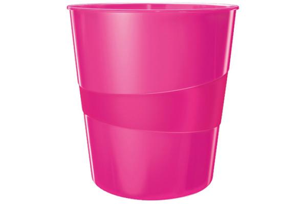 LEITZ Papierkorb WOW 15 Liter 52781023 pink