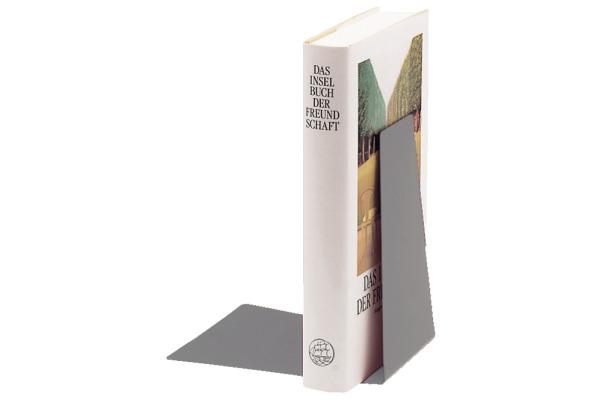 LEITZ Buchstütze Metall 52980085 grau 12,5x14,5x14cm