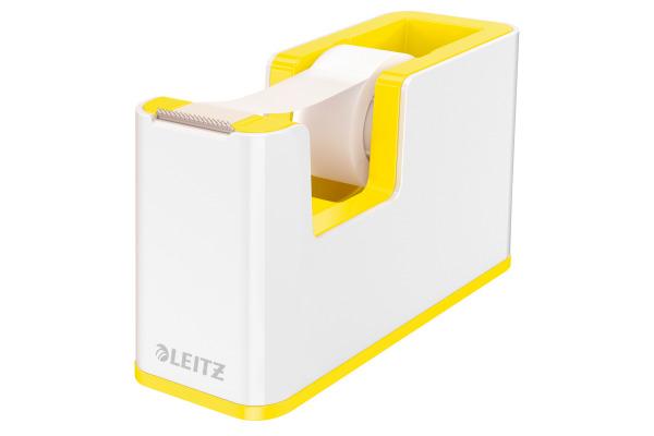 LEITZ Klebebandabroller WOW 5364-10-16 weiss/gelb