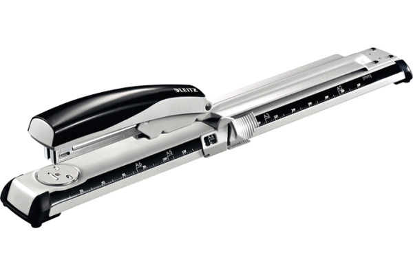 LEITZ Heftgerät Langarm 4mm 55600095 schwarz weiss, für 40 Blatt