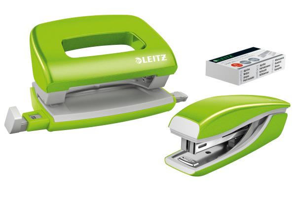LEITZ Locher Hefter NewNeXXt 5561-20-54 grün Set