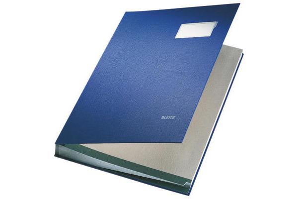 LEITZ Unterschriftsmappen 57000035 blau 20 Fächer