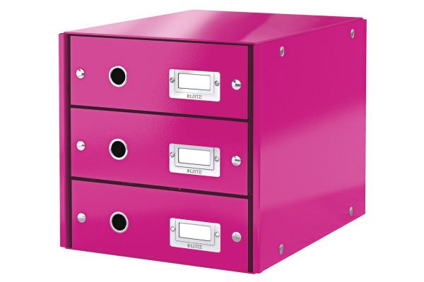LEITZ Schubladenset Click & Store A4 60480023 pink 3 Schubladen