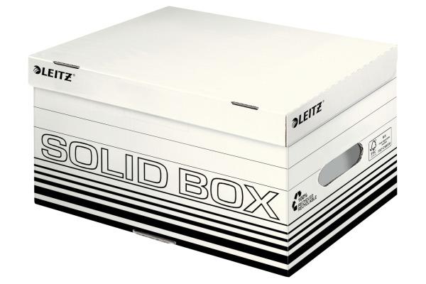 LEITZ Archiv-Box Solid S 6117-00-01 weiss, mit Griff