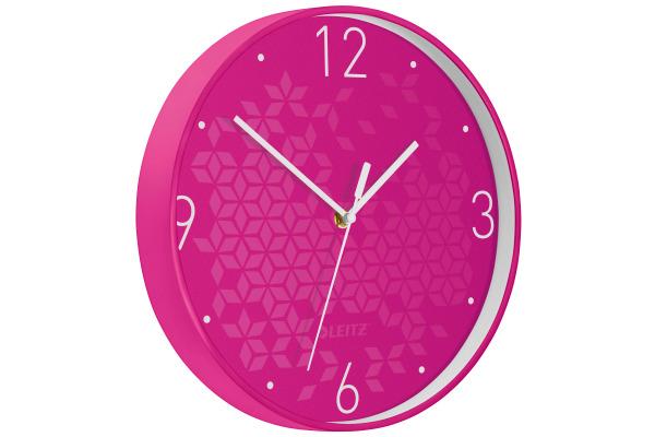 LEITZ Wanduhr WOW 29cm 90150023 pink
