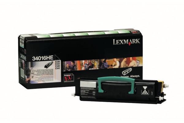 LEXMARK Toner-Modul prebate schwarz 34016HE E330/E340 6000 Seiten