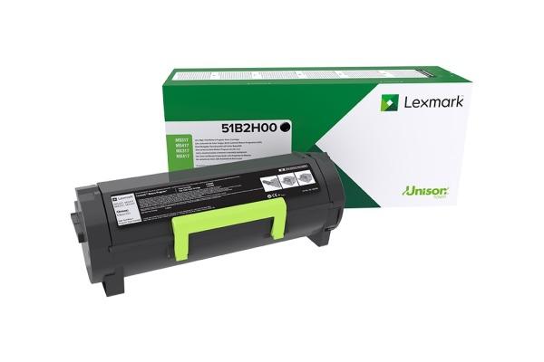 LEXMARK Toner-Modul HY return schwarz 51B2H00 MS41 51 61x 8500 Seiten
