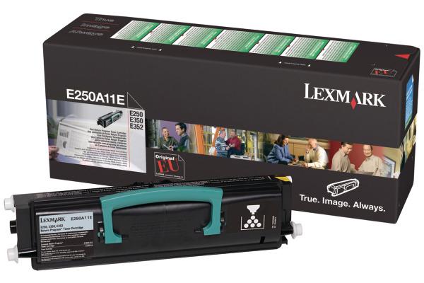 LEXMARK Toner-Modul return schwarz E250A11E E250/350/352 3500 Seiten