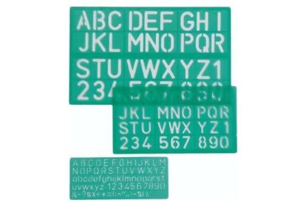 LINEX Schriftschablonen-Set 100411052 3-teilig