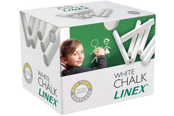 LINEX Tafelkreiden 474000L weiss 100 Stück