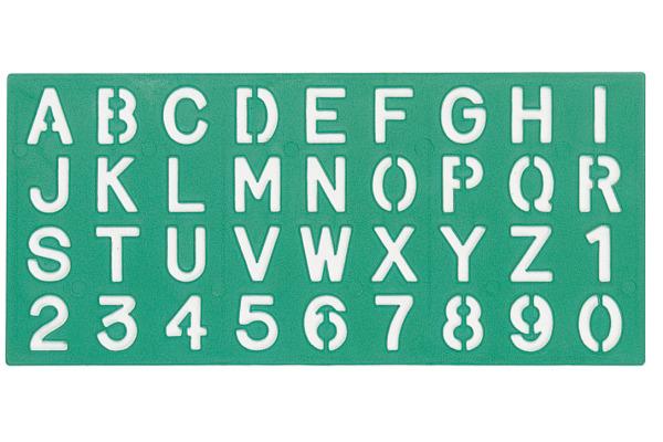 LINEX Schriftschablone 30mm 586200L