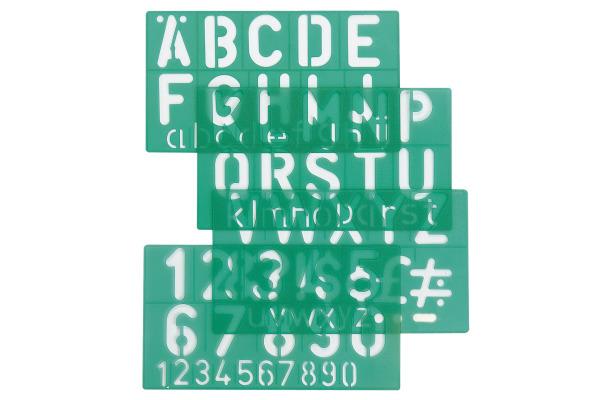 LINEX Schriftschablone 50mm 586300L