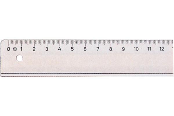 LINEX Schullineal transparent 30cm 85200L mit Tuschkante und Facette