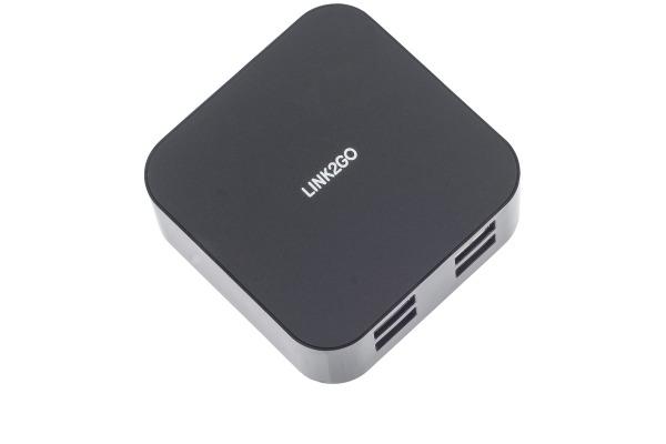LINK2GO USB AC-Adapter AC1004BB 4-Port 6,8A