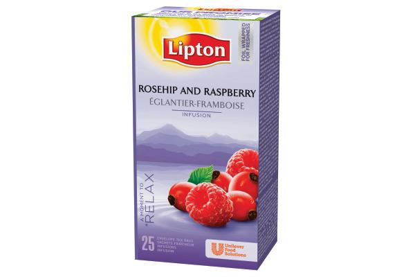 LIPTON Hagebutten Himbeeren Tee 160170 25 Beutel