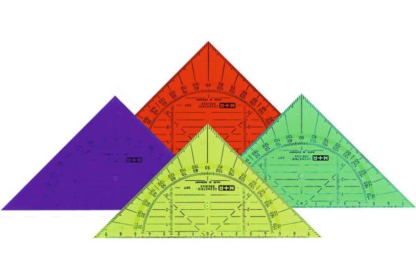 M+R Geometriedreieck 14cm 2317-0150 farbig ass.