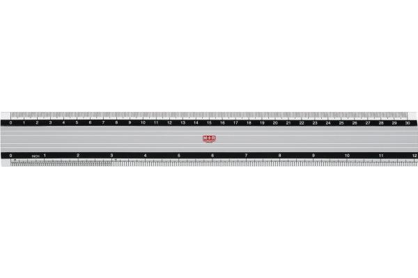 M+R Metall-Lineal 30cm 718300000 skaliert Alu