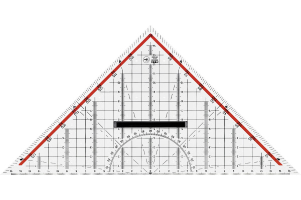 M+R Geometriedreieck 30cm 723320100 abnehmbarer Griff Acryl